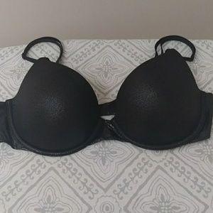 Victoria's Secret black foil bra